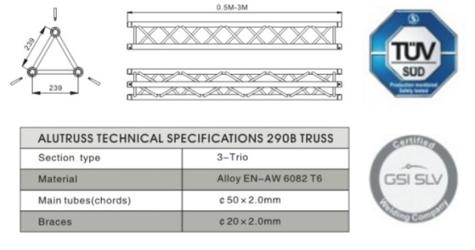Technical Specifications-Alutruss